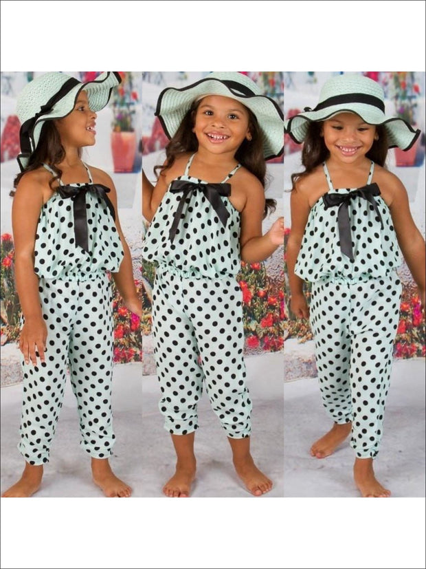 Girls Mint/Black Dot Bubble Swing Set with Bow
