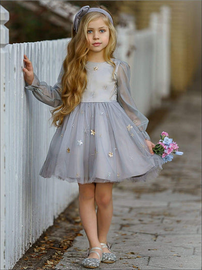 Girls Moonlight Sparkle Lace Dress - Girls Spring Dressy Dress