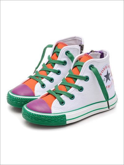 Girls Multicolor High Top Sneakers - Girls Sneakers