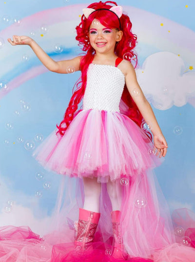Girls My Little Pony Pinkie Pie Halloween Tutu Dress - Girls Halloween Costume