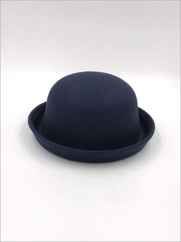 Girls Navy Blue Wool Hat - Girls Hat