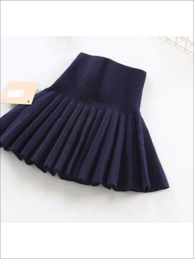 Girls Navy Pleated Skirt - Girls Skirt