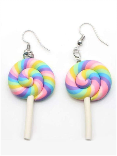 Girls Pastel Princess Unicorn Lollipop Earrings - 1 pair - Accessories