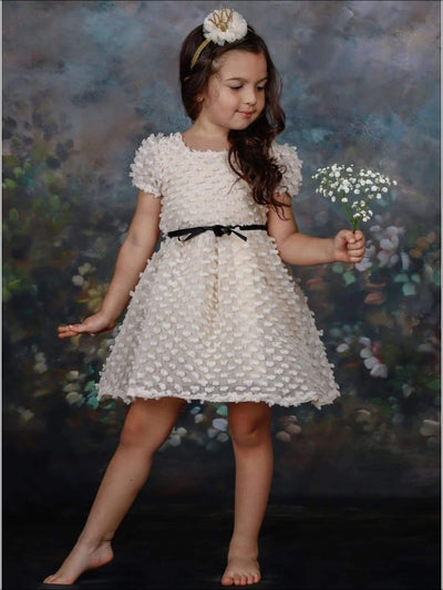 Girls Patchwork Ribbon Casual Dress - Girls Spring Dressy Dress