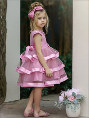 Girls Pearl Embellished Twirly Tutu Dress - Girls Spring Dressy Dress