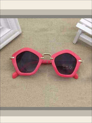 Girls Pentagon Sunglasses - rose red / One - Sunglasses