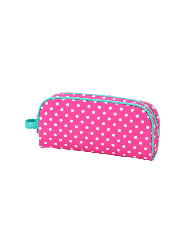 Girls Pink Dottie Pencil Case - Girls Pencil Case