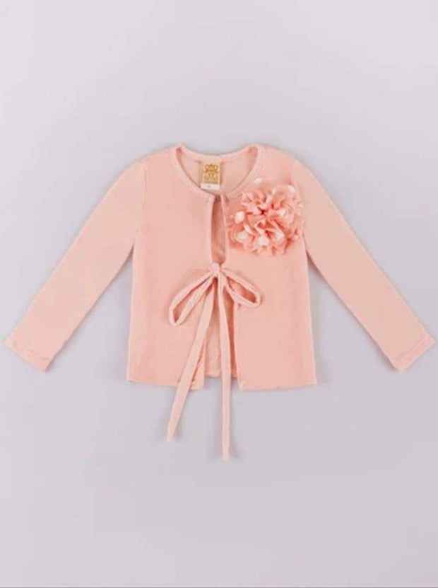 Girls Pink Straight Cardigan - Pink / 3T - Girls Sweater