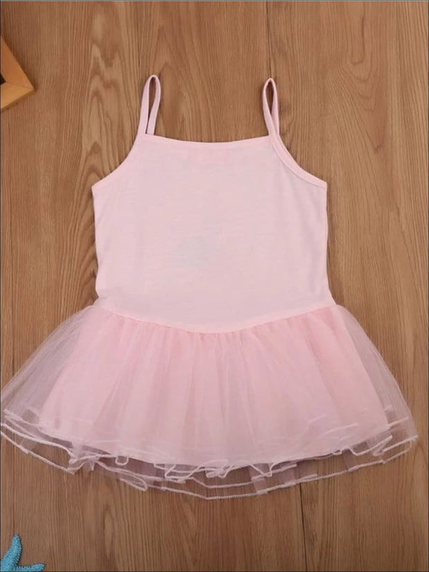 Girls Pink Unicorn Tutu Top - Girls Spring Top