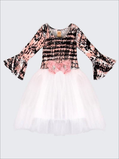 Girls Pink/Black Tutu Dress - Fall Low Stock