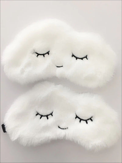 Girls Plush Cloud and Lashes Eye Mask - Girls Accessories
