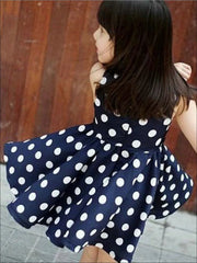 Girls Polka Dot Dress With Matching Belt - Girls Spring Casual Dress
