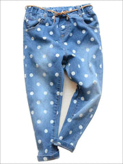 Girls Polka Dot Jeans - Girls Jeans