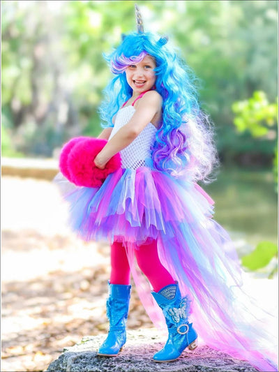 Girls Pop Star Unicorn Halloween Costume - Cotton Candy / 2T - Girls Halloween Costume