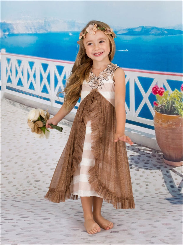 Girls Princess Ruffled Dress - Fall Low Stock