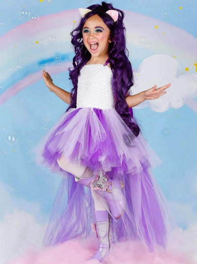 Girls Purple My Little Pony Inspired Halloween Tutu Dress - 2T / Purple - Girls Halloween Costume