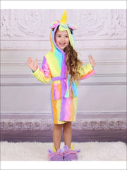 Girls Rainbow Unicorn Bathrobe - Unicorn Bathrobe