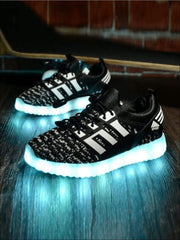 Girls Rechargeable Led Light Up Sneakers - Girls Sneakers