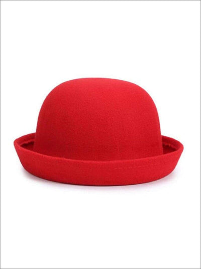 Girls Red Wool Hat - Red / One Size - Girls Hat