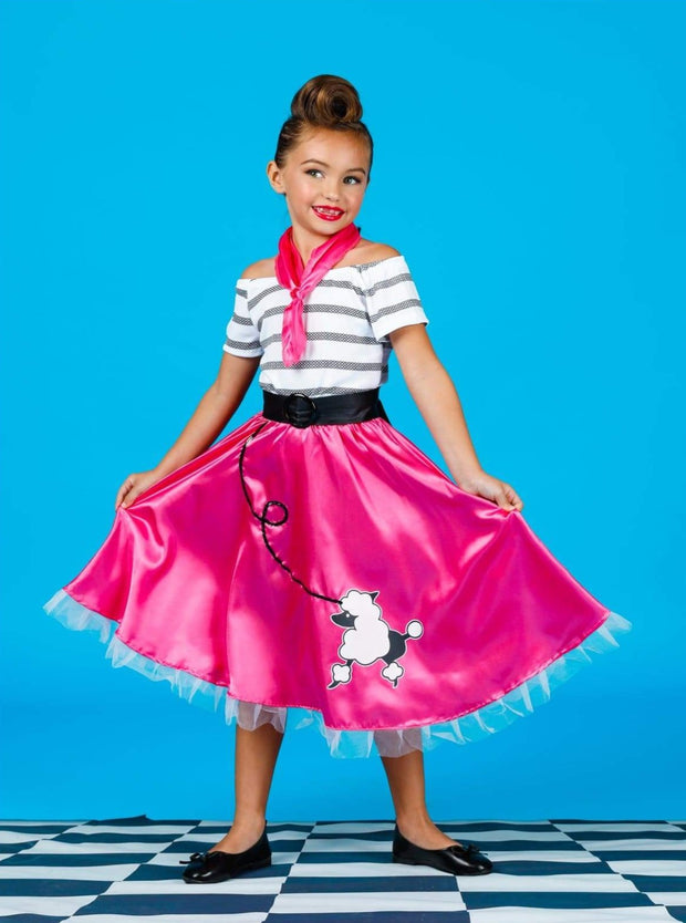 Girls Retro 50s Poodle Girl Halloween Costume - Girls Halloween Costume