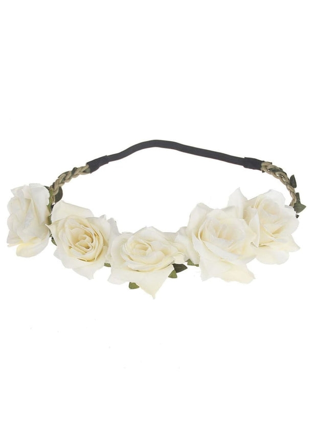 Girls Rose Flower Halo - Girls Flower Halo