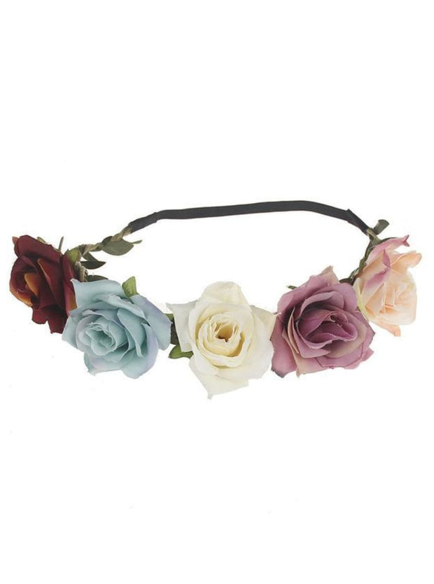 Girls Rose Flower Halo - Multi / One - Girls Flower Halo