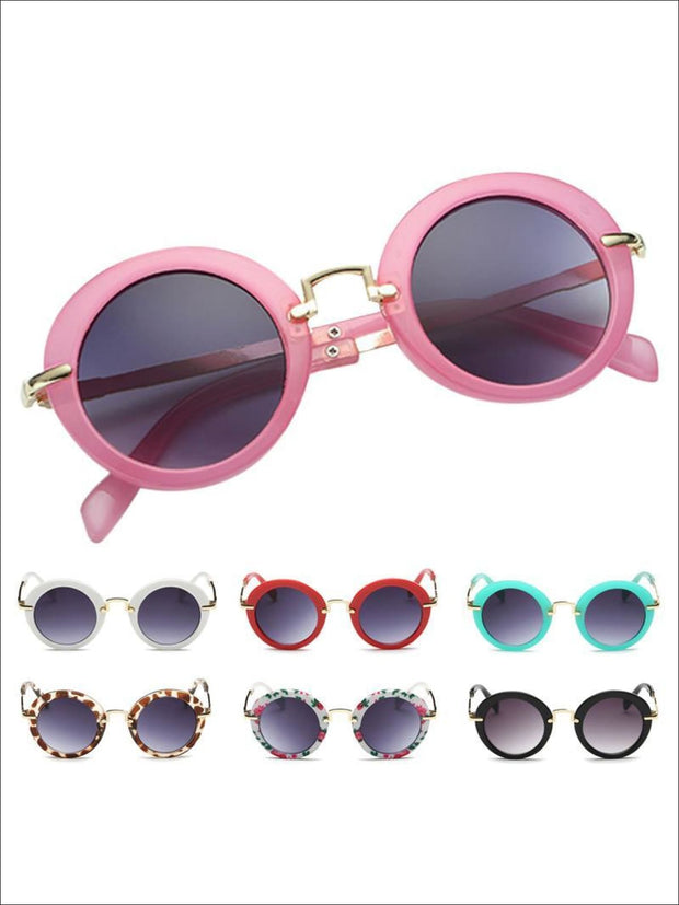Girls Round Retro Sunglasses - Girls Sunglasses