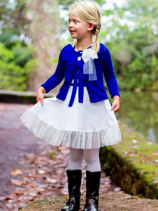 Girls Royal Straight Cardigan - Girls Sweater