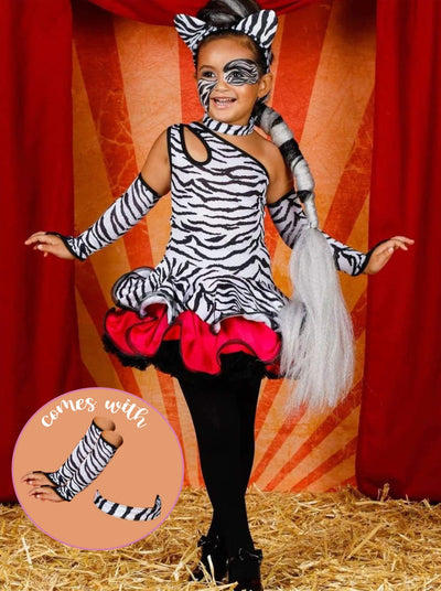Girls Sassy Zebra Halloween Costume Dress