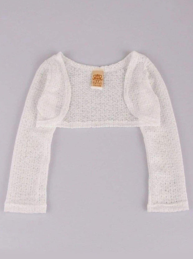 Girls Sheer white Shrug - White / 2T - Girls Jacket
