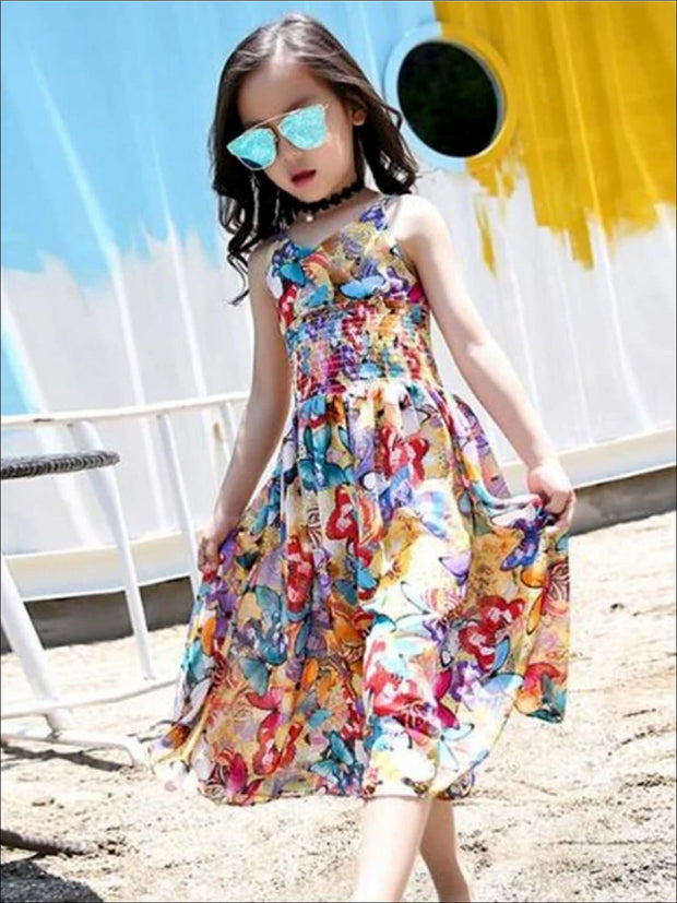Girls Sleeveless Bohemian Style Wide Leg Jumpsuit - Girls Jumpsuit