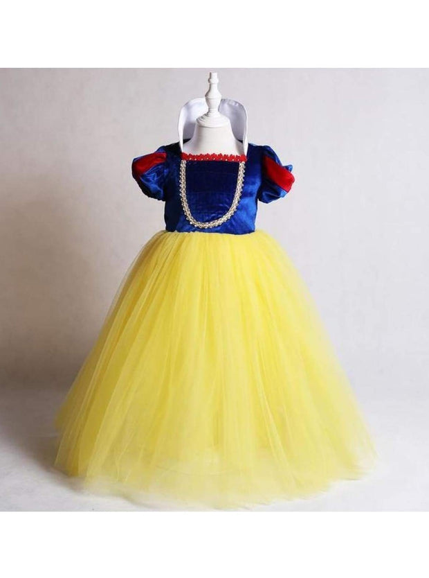 Girls Snow White Inspired Velvet Deluxe Costume - Girls Halloween Costume