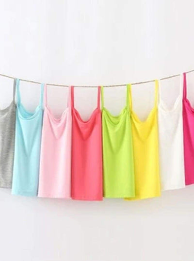 Girls Solid Camisole Tank Top - Girls Spring Casual Top