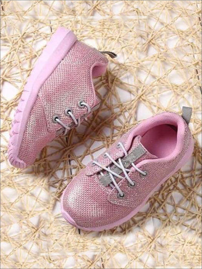 Girls Sparkling Glitter Sneakers - Girls Sneakers
