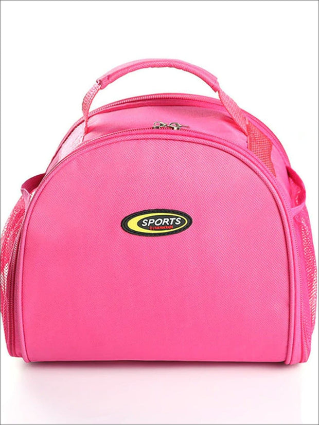 Girls Sports Waterproof Thermal Lunch Box - Pink - Girls Lunchbox