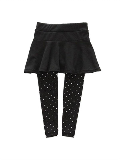 Girls Spring Leggings Skirt Trousers (5 Colors) - Black / 2T - Girls Leggings
