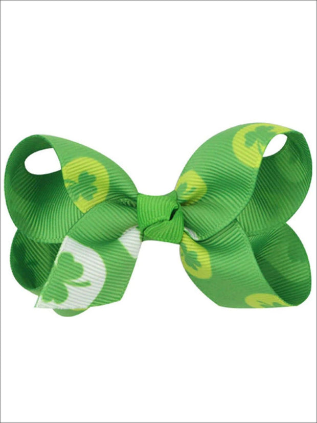 Girls St. Patricks Day Themed Bow Hair Clips - Multicolor - Girls Hair Accessories