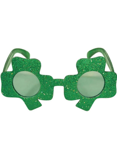 Girls St. Patricks Day Themed Headband & Sunglasses (6 Style Options) - Green / Glitter Shamrock Glasses - Girls Accessories