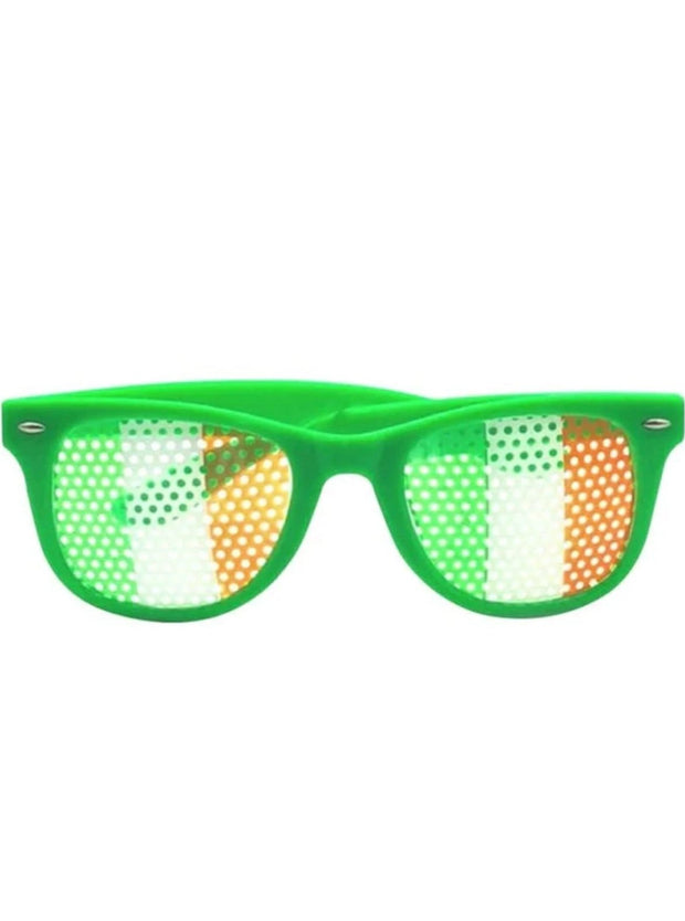 Girls St. Patricks Day Themed Headband & Sunglasses (6 Style Options) - Green / Ireland Flag Sunglasses - Girls Accessories