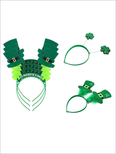 Girls St. Patricks Day Themed Spring Bopper Headbands (3 Style Options) - Girls Hair Accessories