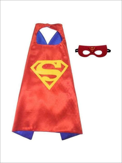 Girls Super Girl Cape for Costume - Girls Halloween Costume
