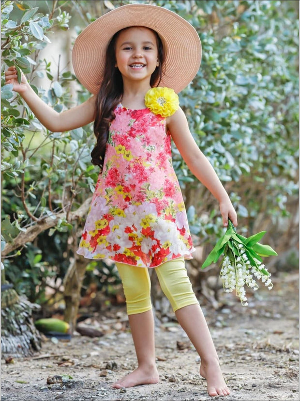 Girls Swing Tunic and Capri Leggings Set - Girls Spring Casual Set