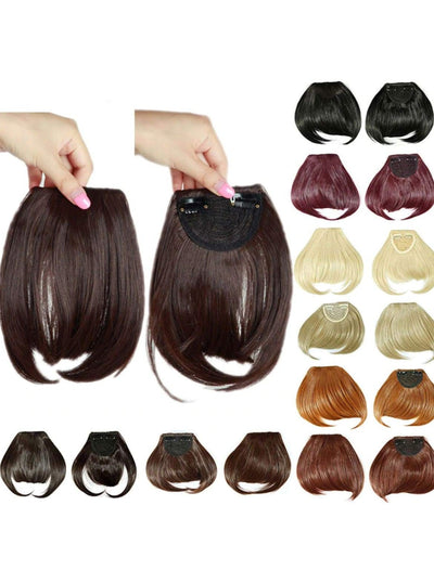 Girls Synthetic Removable Clip-On Bangs - Girls Halloween Costume