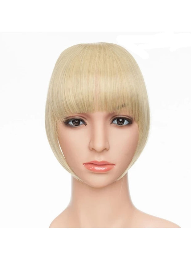 Girls Synthetic Removable Clip-On Bangs - Ash-Bleach Blonde / One Size - Girls Halloween Costume