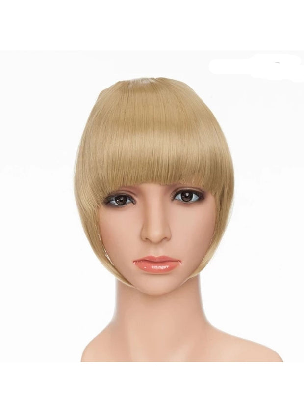 Girls Synthetic Removable Clip-On Bangs - Ash Blonde / One Size - Girls Halloween Costume