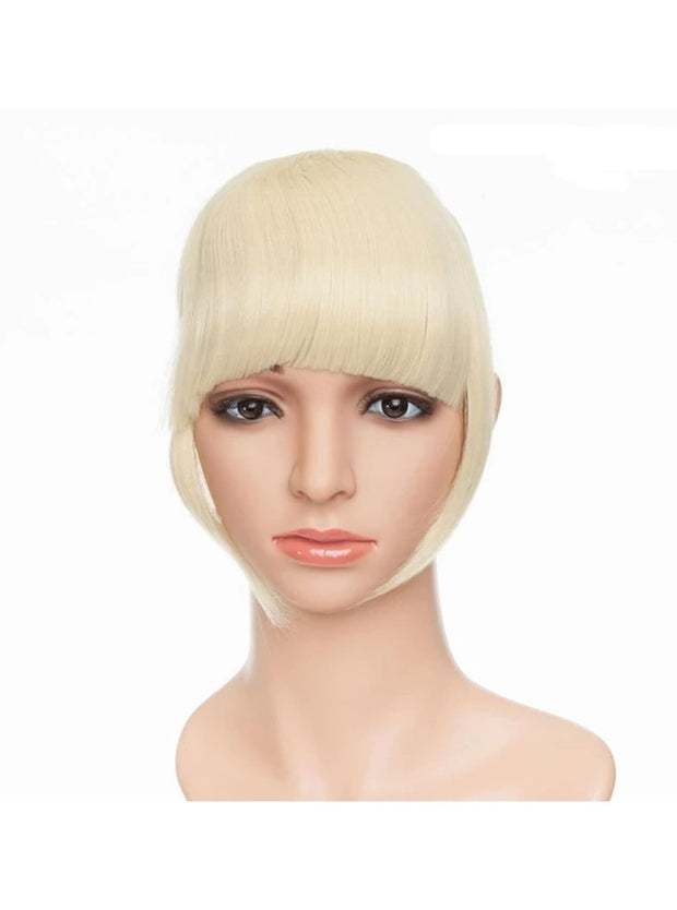 Girls Synthetic Removable Clip-On Bangs - Bleach Blonde / One Size - Girls Halloween Costume