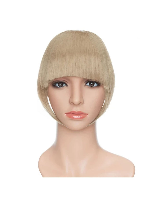 Girls Synthetic Removable Clip-On Bangs - Sandy / One Size - Girls Halloween Costume