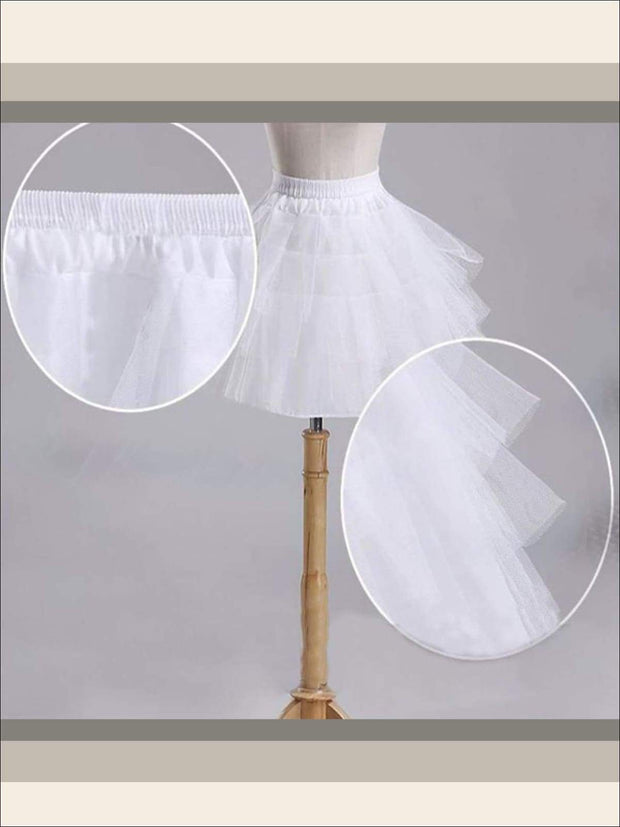 Girls Three Layered Petticoat - Girls Petticoats
