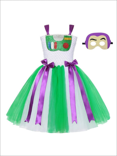 Girls Toy Story 4 Inspired Buzz Lightyear Tutu Halloween Costume - Girls Halloween Costume