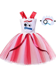 Girls Toy Story 4 Inspired Forky Halloween Costume - White / 2T - Girls Halloween Costume
